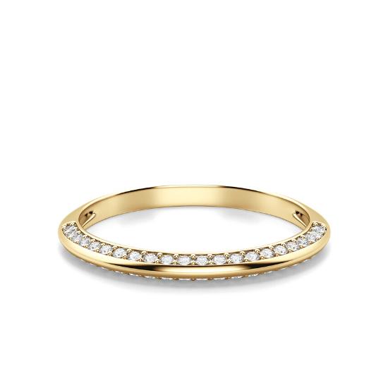 Кольцо с бриллиантами на гранях,  Больше Изображение 2