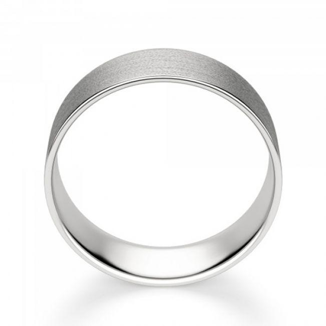 Широкое матовое мужское кольцо 6 мм - Фото 2