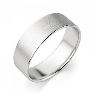 Широкое матовое мужское кольцо 6 мм - Фото 1