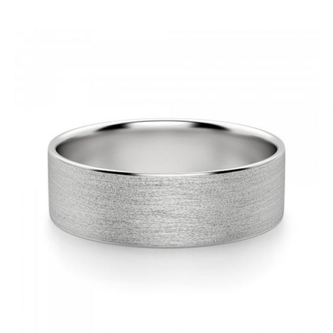 Широкое матовое мужское кольцо 6 мм