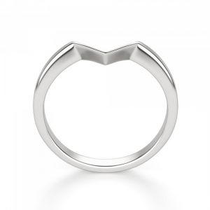 Кольцо из белого золота v формы - Фото 2