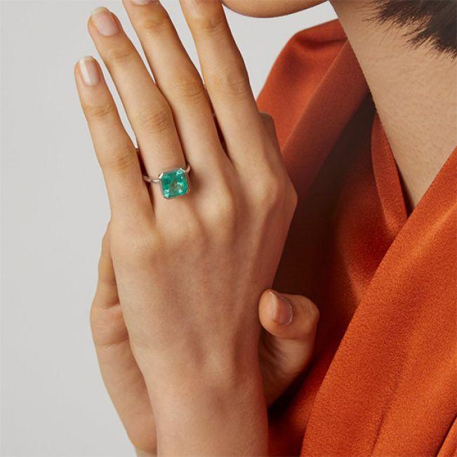 Кольцо с изумрудом - Фото 4