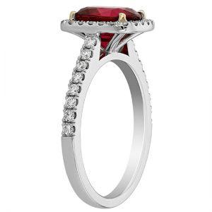 Кольцо с красной шпинелью - Фото 2