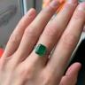 Классическое кольцо с изумрудом 3.31 карата и бриллиантами триллионами, Изображение 3