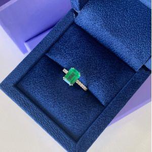 Кольцо с изумрудом 2.67 кт и паве из бриллиантов - Фото 4