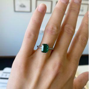 Кольцо с изумрудом 2.67 кт и паве из бриллиантов - Фото 1