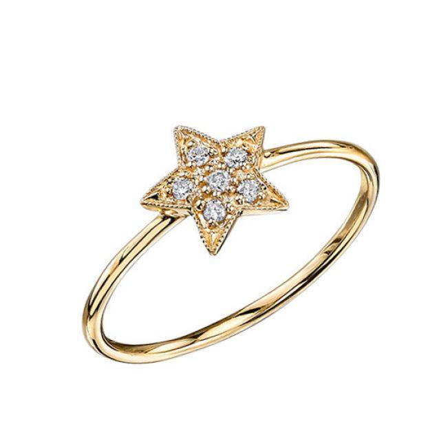 Маленькое кольцо со Звездой с бриллиантами