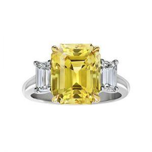Кольцо с желтым сапфиром 3 карата