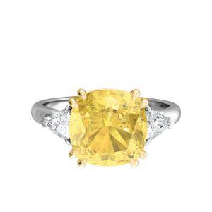 Кольцо с желтым сапфиром 1.5 карата