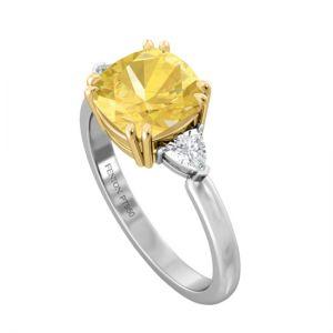 Кольцо с желтым сапфиром 1.5 карата - Фото 1
