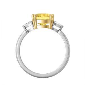 Кольцо с желтым сапфиром 1.5 карата - Фото 2