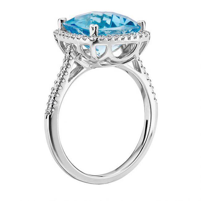 Коктейльное кольцо с крупным топазом Свис - Фото 1