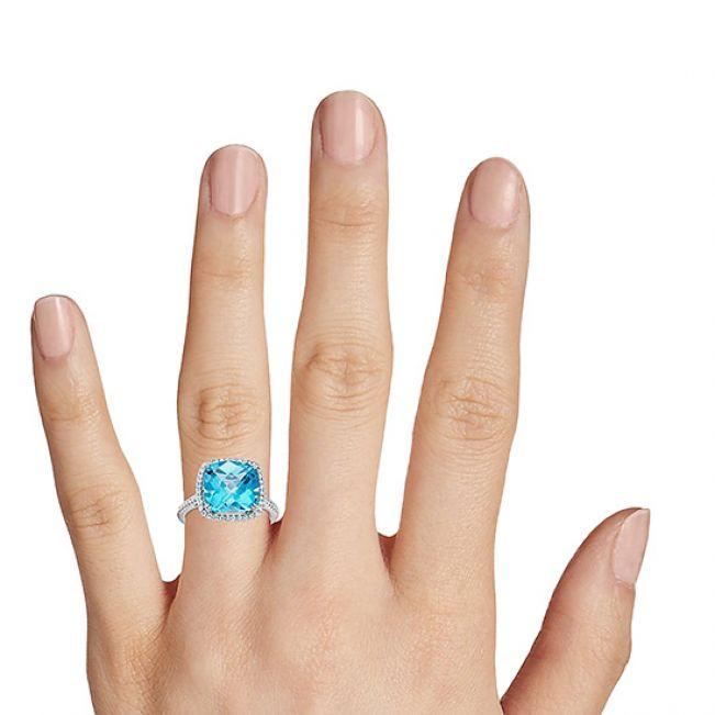 Коктейльное кольцо с крупным топазом Свис - Фото 2