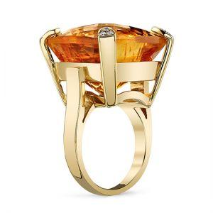 Коктейльное кольцо с цитрином - Фото 1