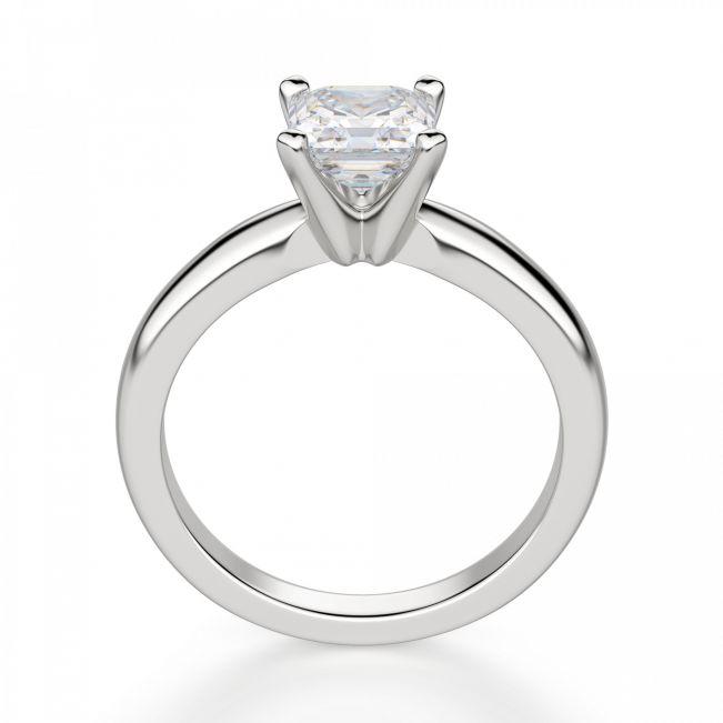 Кольцо помолвочное с квадратным бриллиантом Ашер