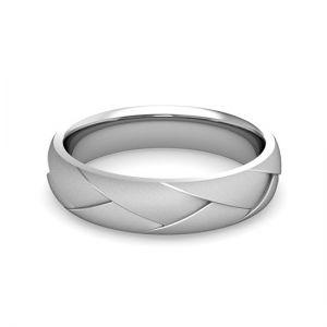 Мужское кольцо из белого золота 750 пробы - Фото 1