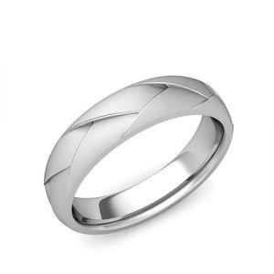 Мужское кольцо из белого золота 750 пробы