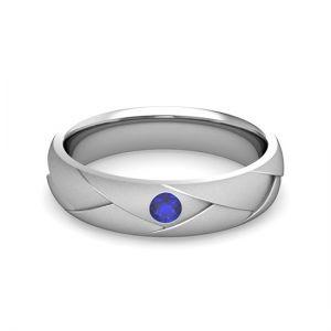 Мужское кольцо с сапфиром - Фото 1