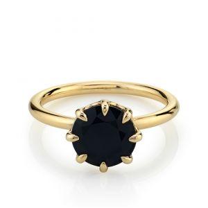 Кольцо с черным бриллиантом 2 карата