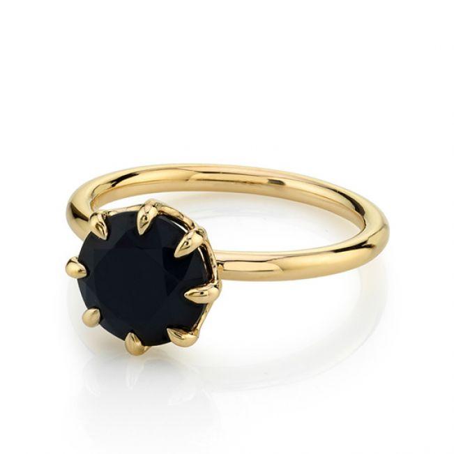 Кольцо с черным бриллиантом 2 карата - Фото 1