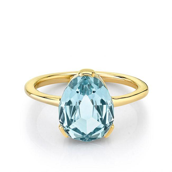 Кольцо с голубым сапфиром