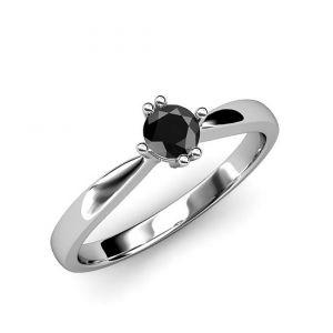 Кольцо с черным бриллиантом  - Фото 1