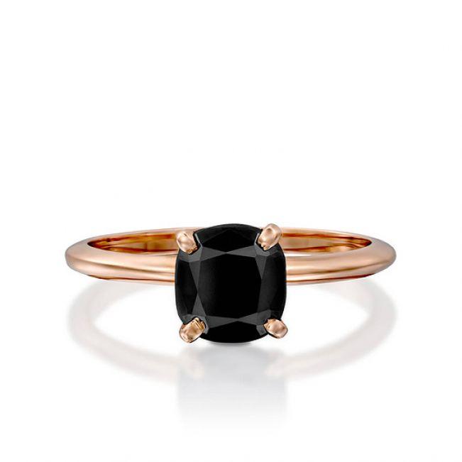 Кольцо с черным бриллиантом