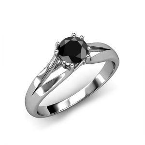 Кольцо с черным бриллиантом  - Фото 2