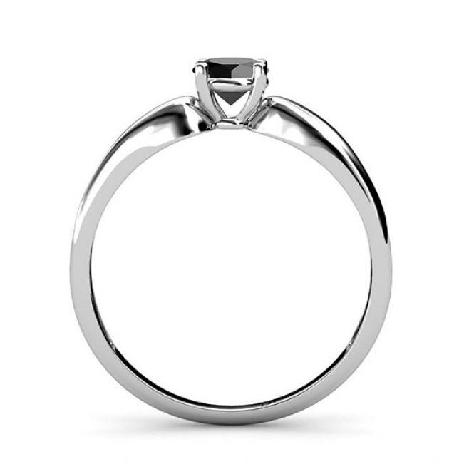 Кольцо с черным бриллиантом  - Фото 3