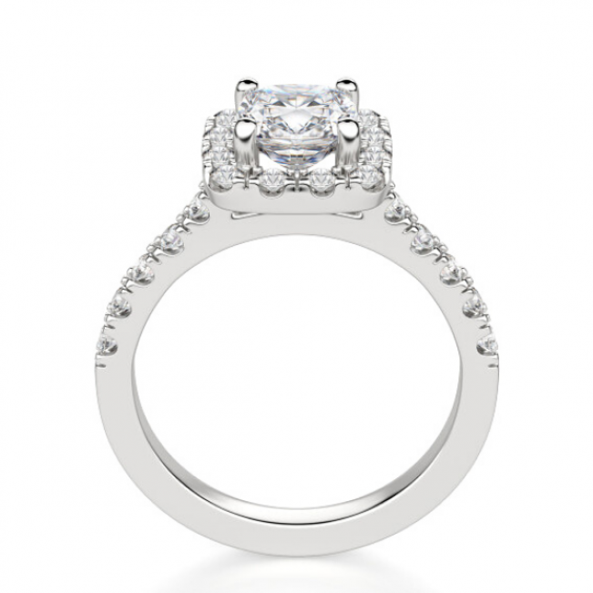 Кольцо с бриллиантом кушон 1 карат в стиле малинка - Фото 1