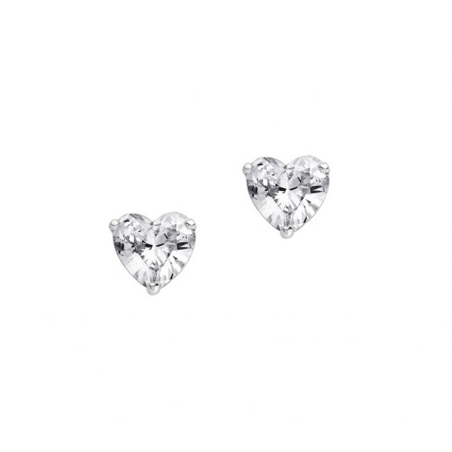 Пусеты с бриллиантами огранки сердце