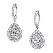 Серьги малинка с бриллиантами