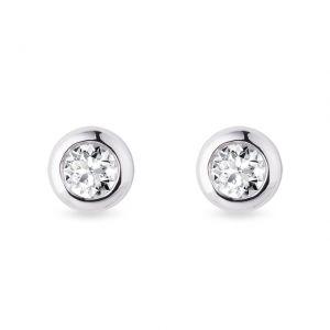 Серьги пусеты с бриллиантами 4.5 мм