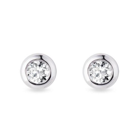 Серьги пусеты с бриллиантами 0.30 карата, Больше Изображение 1