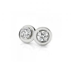 Серьги гвоздики с круглыми бриллиантами