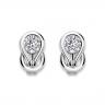Серьги кольца с круглыми белыми бриллиантами, Изображение 3