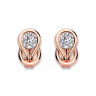 Серьги кольца с круглыми белыми бриллиантами, Изображение 2