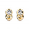 Серьги кольца с круглыми белыми бриллиантами, Изображение 5