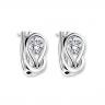 Серьги кольца с круглыми белыми бриллиантами, Изображение 4