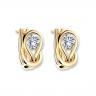 Серьги кольца с круглыми белыми бриллиантами, Изображение 6