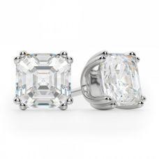 Серьги пусеты с бриллиантами ашер