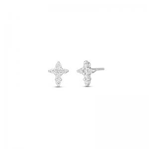 Маленькие серьги Крестики с бриллиантами