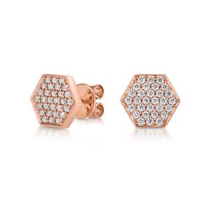Серьги пусеты с бриллиантами Miel