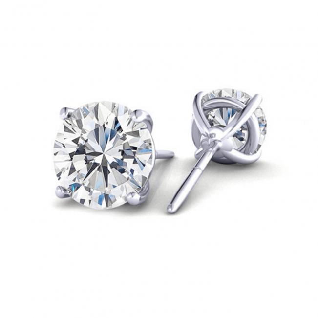 Серьги классические пусеты с бриллиантами