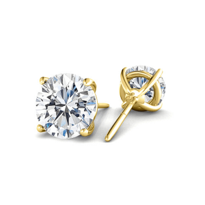 Серьги золотые пусеты с бриллиантами