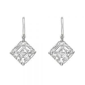 Серьги на петле с бриллиантами «ашер»