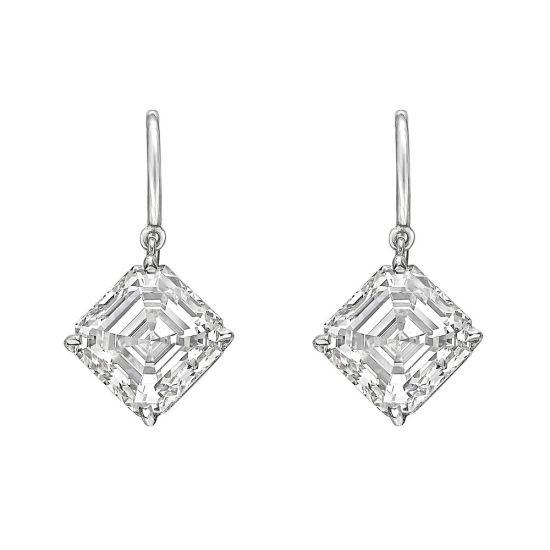 Серьги на петле с бриллиантами «ашер», Больше Изображение 1