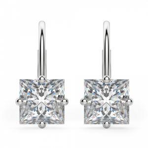 Серьги на петле с бриллиантами Принцесса