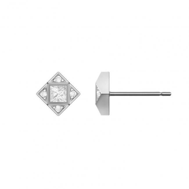 Современные серьги пусеты с бриллиантами
