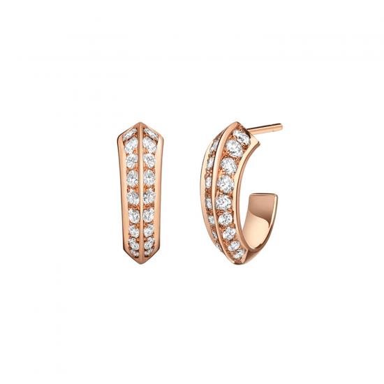 Серьги колечки с бриллиантами, Больше Изображение 1